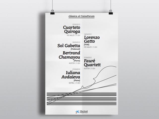 Cartel música clásica CaixaForum