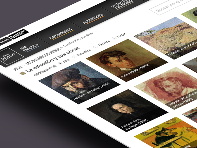 Website Museo Picasso